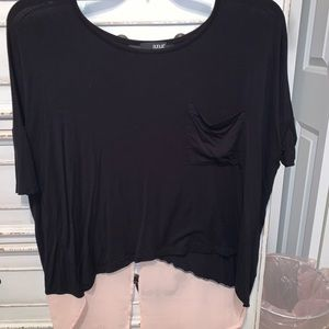 Black and pink top.